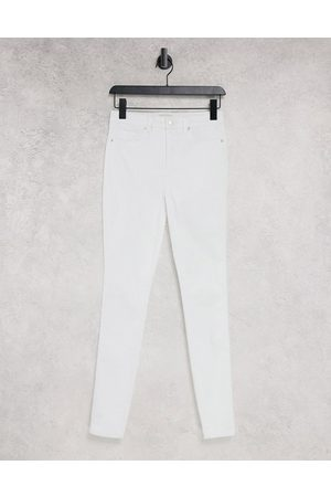 ONLY Royal skinny jeans with high waist in white