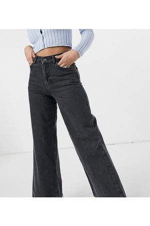 COLLUSION X008 90s wide leg jeans in washed black