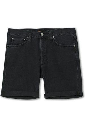 Nudie Jeans Josh Stretch Denim Shorts Black Water