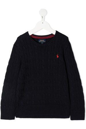 Ralph Lauren Gutt Langermede - Long-sleeved embroidered logo jumper