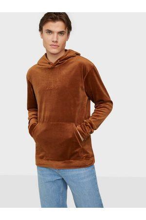 Ciszere Sami velour hoodie - With logo Gensere Orange