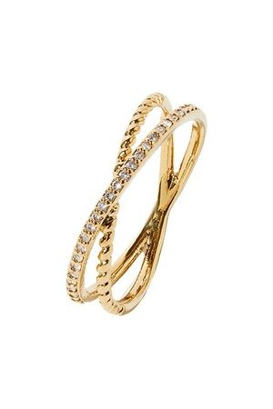Accessorize Pave Crossover Ring