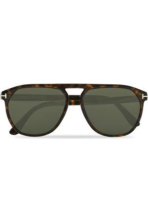 Tom Ford Herre Solbriller - Jasper-02 Sunglasses Dark Havana/Green
