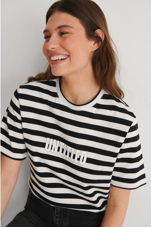 NA-KD Dame Kortermede - Striped Oversized Tee