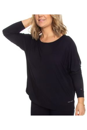 Tommy Hilfiger Dame Blonder - Micro Lace LS Top