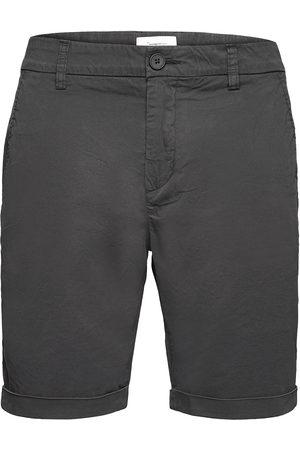 Knowledge Cotton Apparal Chuck Regular Chino Poplin Shorts - Shorts Chinos Shorts Grå