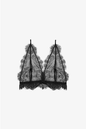 ANINE BING Dame Bh-er - Delicate Lace Bra In Black
