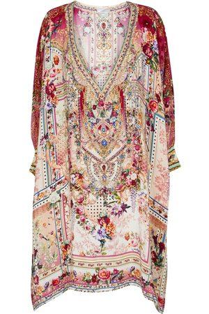 Camilla Exclusive to Mytheresa – Floral embellished silk kaftan