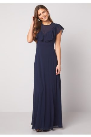 Moments New York Lea Frill Gown Navy 40