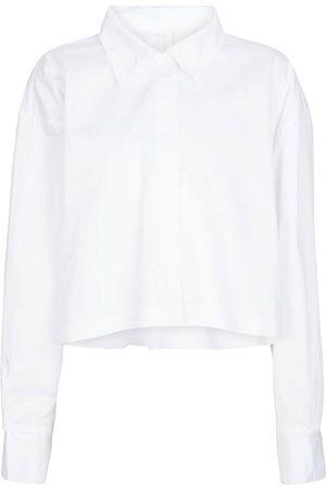 Norma Kamali Cropped cotton shirt