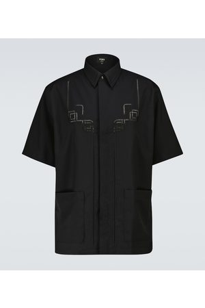 Fendi Embroidered wool shirt