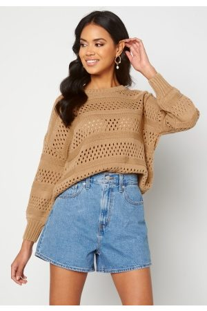 Trendyol Knitted Sweater Camel M