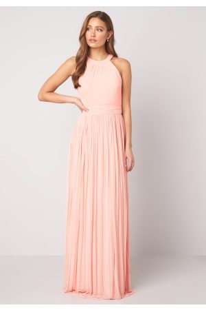Moments New York Dame Festkjoler - Linnea Pleated Gown Light pink 36
