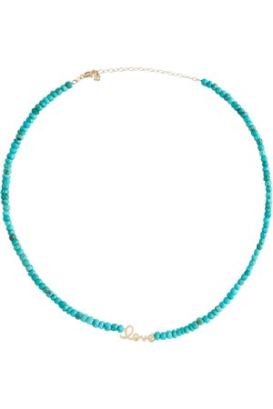 Sydney Evan Love 14kt gold beaded necklace