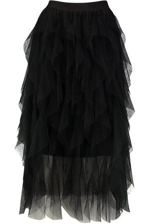 Boohoo Layered Tulle Midi Skirt