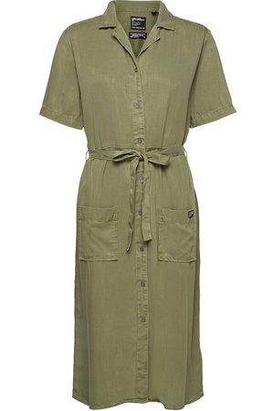 Superdry Dame Hverdagskjoler - Tencel Shirt Dress Dresses Everyday Dresses
