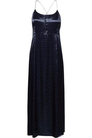 Scotch&Soda Dame Bodycon kjoler - Summer Slip Dress In Wave Jacquard Quality Dresses Evening Dresses Blå