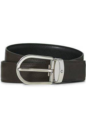 Mont Blanc Reversible Saffiano Leather 30mm Belt Black/Brown