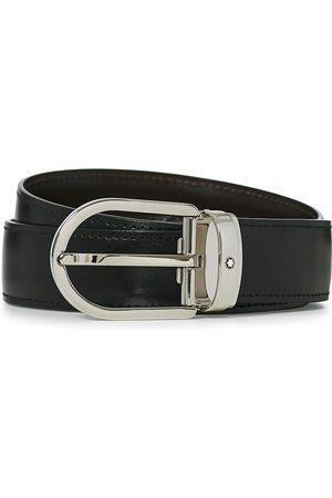 Mont Blanc Herre Belter - Reversible Horseshoe Buckle 30mm Belt Black/Brown