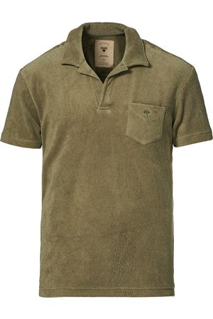 Oas Short Sleeve Terry Polo Khaki
