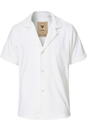 Oas Herre Kortermede - Terry Cuba Short Sleeve Shirt White