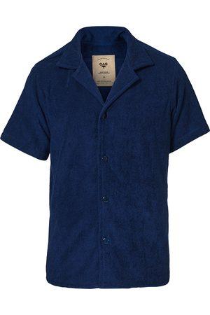 Oas Herre Kortermede - Terry Cuba Short Sleeve Shirt Navy