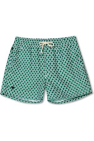 Oas Herre Badebukser - Printed Swimshorts Green Tile