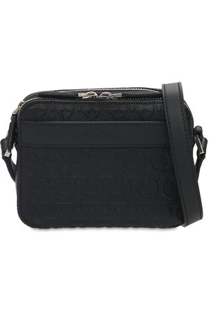 Salvatore Ferragamo Logo Embossed Leather Shoulder Bag