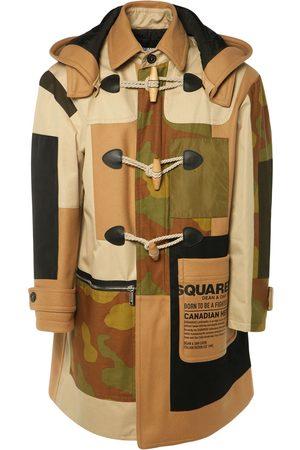 Dsquared2 Camo Wool Blend Canvas Coat