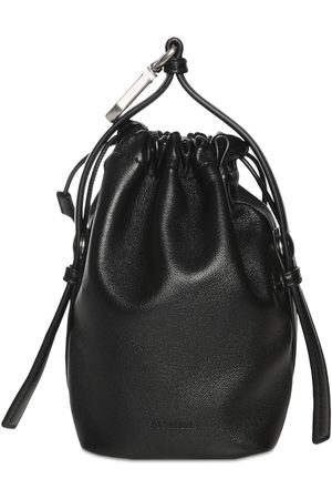 Jil Sander Herre Clutches - Drawstring Hook Leather Pouch