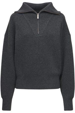 Isabel Marant Fancy Knit Wool Blend Zip Sweater