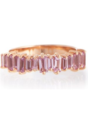 Suzanne Kalan 18kt rose gold ring with sapphires
