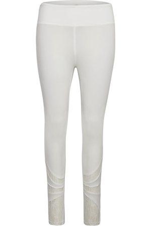 Cream Dame Leggings - Lace Leggings Med Blonder