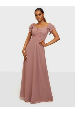 NLY Eve Dame Maxikjoler - Fancy Frill Gown Dusty Pink