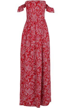 Boohoo Dame Mønstrede kjoler - Petite Paisley Print Bardot Wrap Maxi Dress