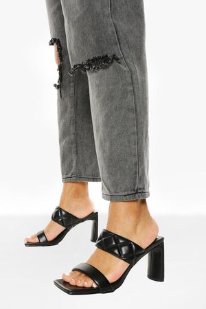 Boohoo Dame Flip flops - Quilted Double Strap Mule