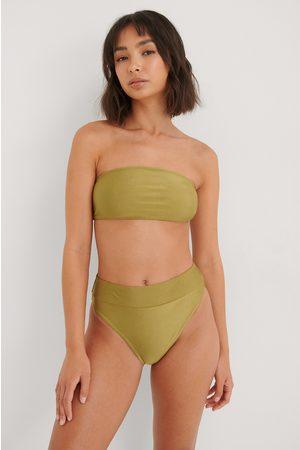 NA-KD Swimwear Dame Bikinier - Skinnende Bikinitruse Med Høyt Liv
