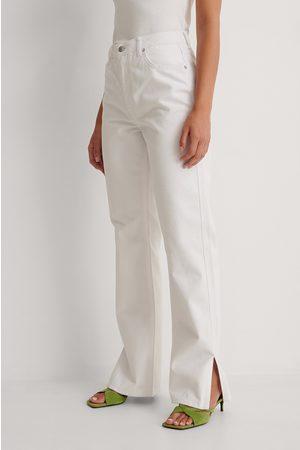 NA-KD Dame Straight - Rette Jeans Med Sidesplitt Og Høyt Liv