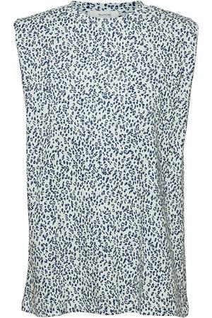 Munthe Flik T-shirts & Tops Sleeveless Blå