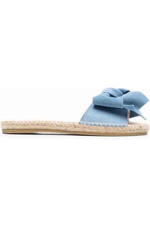 MANEBI Hamptons knotted espadrille slides