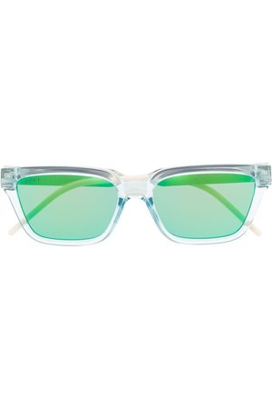 Gucci Eyewear Herre Solbriller - Transparent rectangle-frame sunglasses