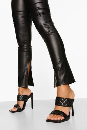 Boohoo Wide Fit Quited Stiletto Mule