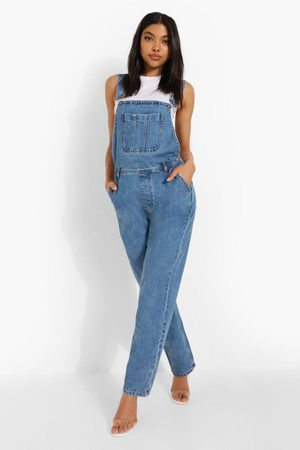 Boohoo Tall Boyfriend Fit Denim Dunagrees
