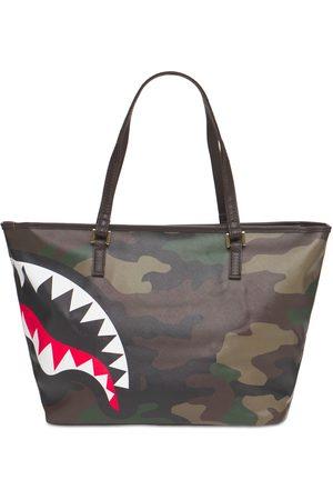 Sprayground Check & Camouflage Tote Bag