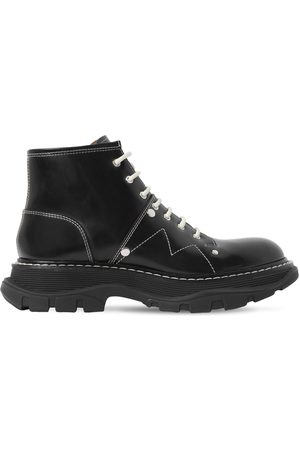 Alexander McQueen Dame Skoletter - 40mm Tread Studded Leather Ankle Boots