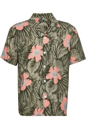 J Lindeberg Herre Kortermede - Viscose Print Ss Resort Shirt Kortermet Skjorte