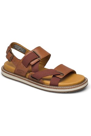 Keen Dame Sandaler - Ke Lana Z-Strap Sandal W Tort Shell-Sil Birch Shoes Summer Shoes Flat Sandals Brun