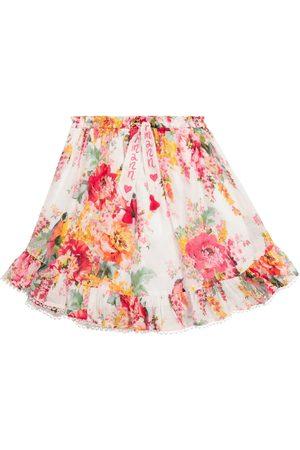 ZIMMERMANN Mae Flounce floral cotton skirt