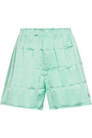 COPERNI Checked satin shorts
