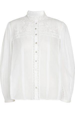 LOVESHACKFANCY Ronda cotton blouse